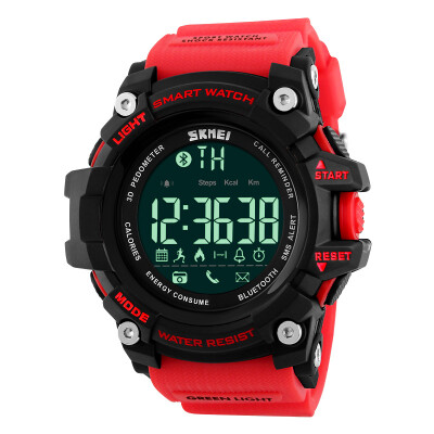 Time beauty skmei smart watch mens sports watch multi-function student running Bluetooth electronic watch 1227 red