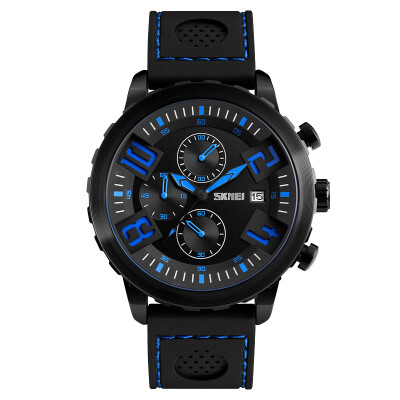 Time beauty skmei watches men&39s sports fashion creative scale running second chronograph quartz watch 9149 black