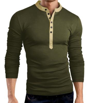 Male 2017 Brand Long Sleeve Solid Color Fashion T Shirt V-Neck Slim Men T-Shirt Tops Fashion Mens Tee Shirt T Shirts