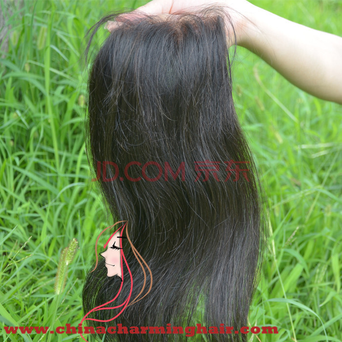 Brazilian lace closure 4*4 Brazilian virgin hair closure Straight middle part free part 2 options 10 to 24 inch