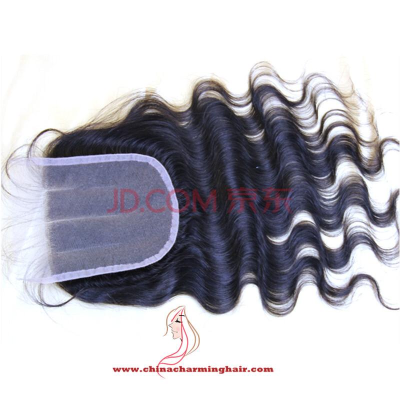 Brazilian Virgin Hair Lace Closure Bleached Knots Annabelle hair Brazilian Body Wave Closure Middle/Free/ 3 Part Lace Closure