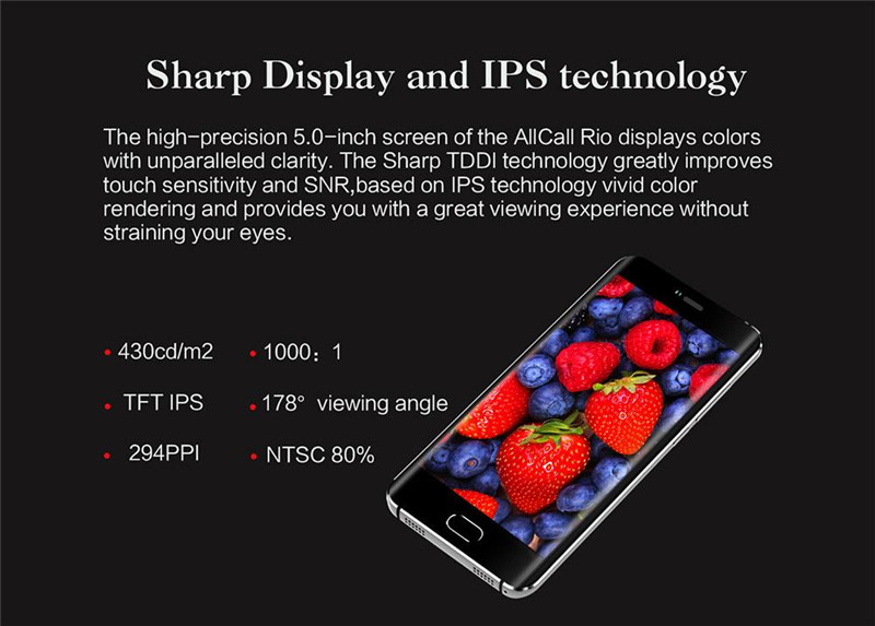 AllCall Rio 5.0 Inch Smartphone Dual Rear Camera 16GB ROM MTK6580A Quad Core Android 7.0 Metal Body OTG
