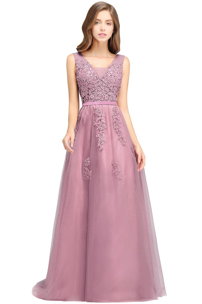 26b0885a80a Вышитые бисером длинные вечерние платья babyonlinedress Пыльный розовый США  2 Великобритания 6 ЕС 32