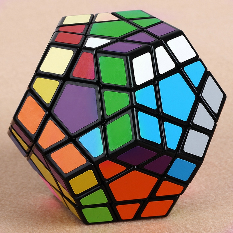 yj5 пять магический куб странную форму мегаминкс 12 лицо образования головоломки кубик головоломки игрушка