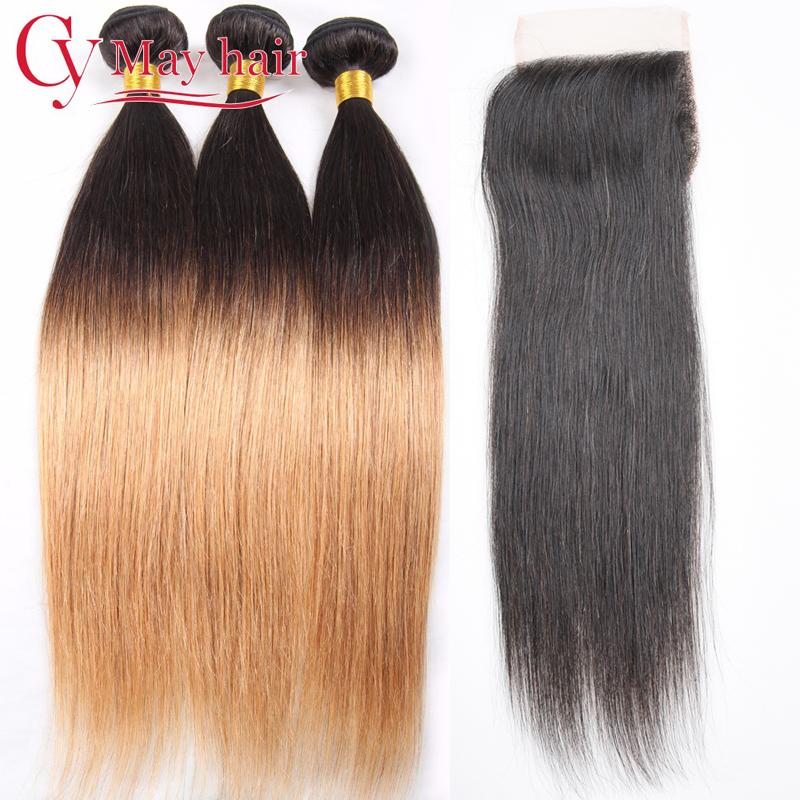 cy may hair Свободная часть T1B 27 1B 10 10 10 10 с 10, 8A Перуанские девичьи волосы прямые 3 комплекта с закрытием