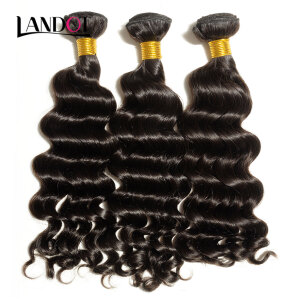 price historyBest 10A Raw Virgin Brazilian Hair Loose Deep Wave Unprocessed Human Hair Weave 3 Bundles Brazilian Loose Wavy Curly Natural Color on joybuy