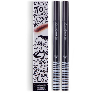 Joybuy price history to Green leaves and met the case of multi-purpose eyebrow pencils 0.75g natural black (waterproof lasting no blooming automatic eyebrow pencil multi-purpose make-up easy to color)