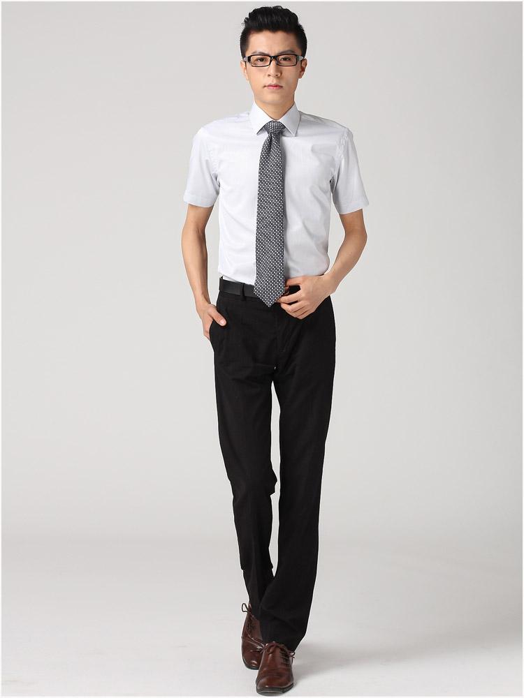 男士正装衬衣图片_男士正装短袖衬衫牌子哪个好 男士衬衫短袖 商务 正装怎么样
