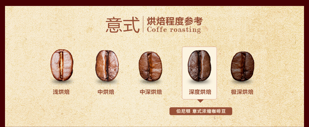 进口意式浓缩咖啡豆500g