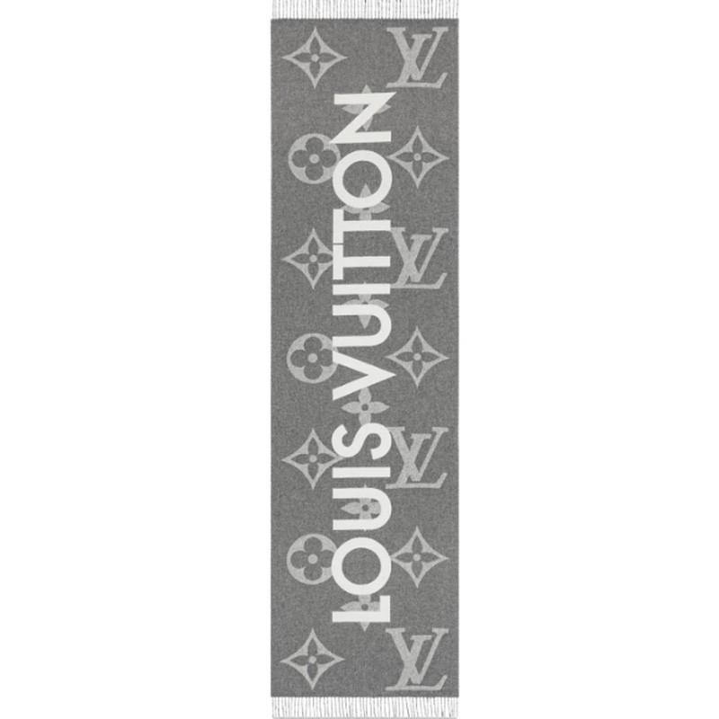 高仿原单Louis Vuitton 路易威登lv围巾男女同款长款羊毛围巾三色可选M73455 M73454(图3)