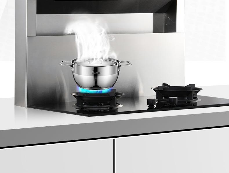 爱妻(AICHEN)集成灶侧吸下排分体式大吸力顶部加热自动清洗嵌入式环保灶油烟机分体灶-液化气