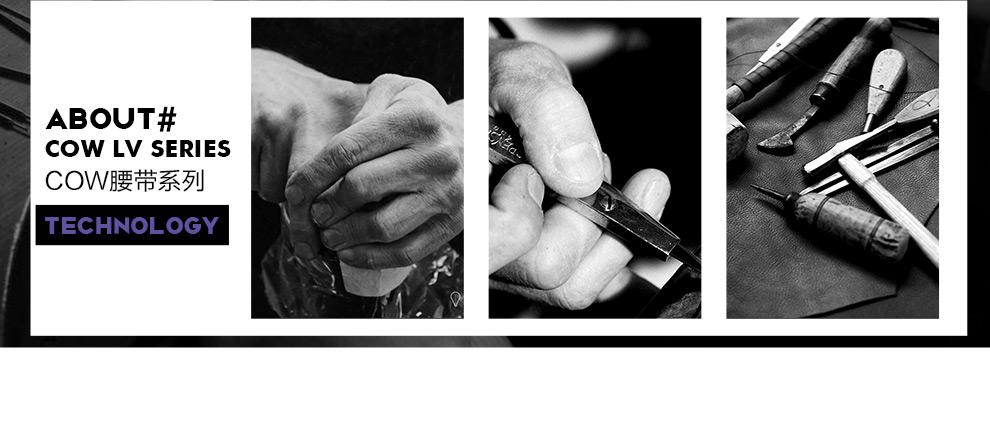 法国COW 男士皮带自动扣牛皮商务无牙内扣腰带中青年休闲裤带男士礼物 C-666 B款-默认发125CM(其他尺寸备注或联系客服)