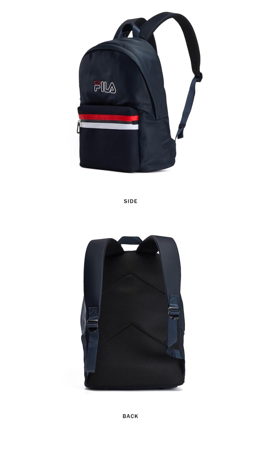 運動包FILA 斐樂官方 情侶雙肩包 夏季新款時尚運動休閑透氣雙肩包 傳奇藍-NV XS