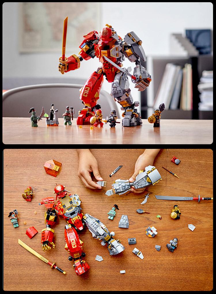 乐高(LEGO)幻影忍者 Ninjago系列 9岁+ 火焰大地机甲 71720