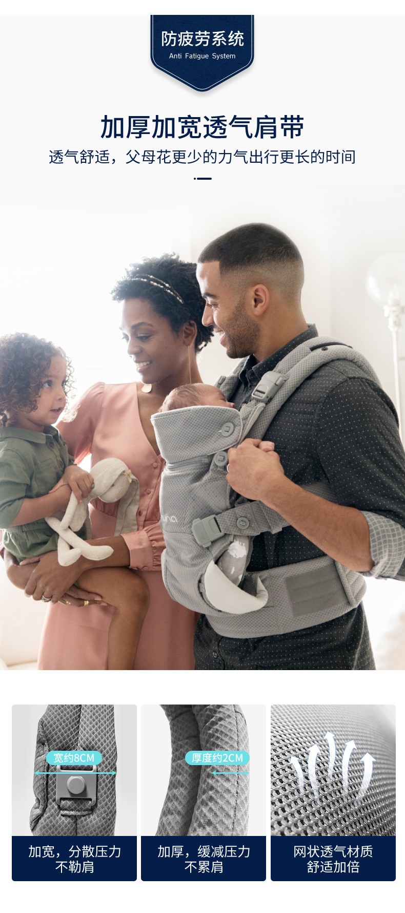 背嬰帶 荷蘭Nuna CUDL嵌入式新生兒坐墊可調整式設計背帶 caviar黑色現貨(紅點設計款)