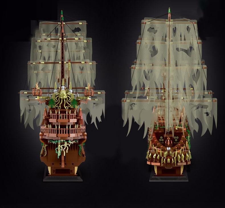 宇星模王飞跃的荷兰人号帆船模型13138