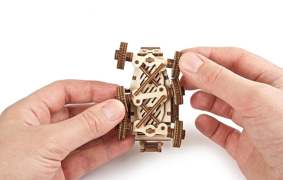 ugears乌克兰木制机械发条拼装模型 火星越野车