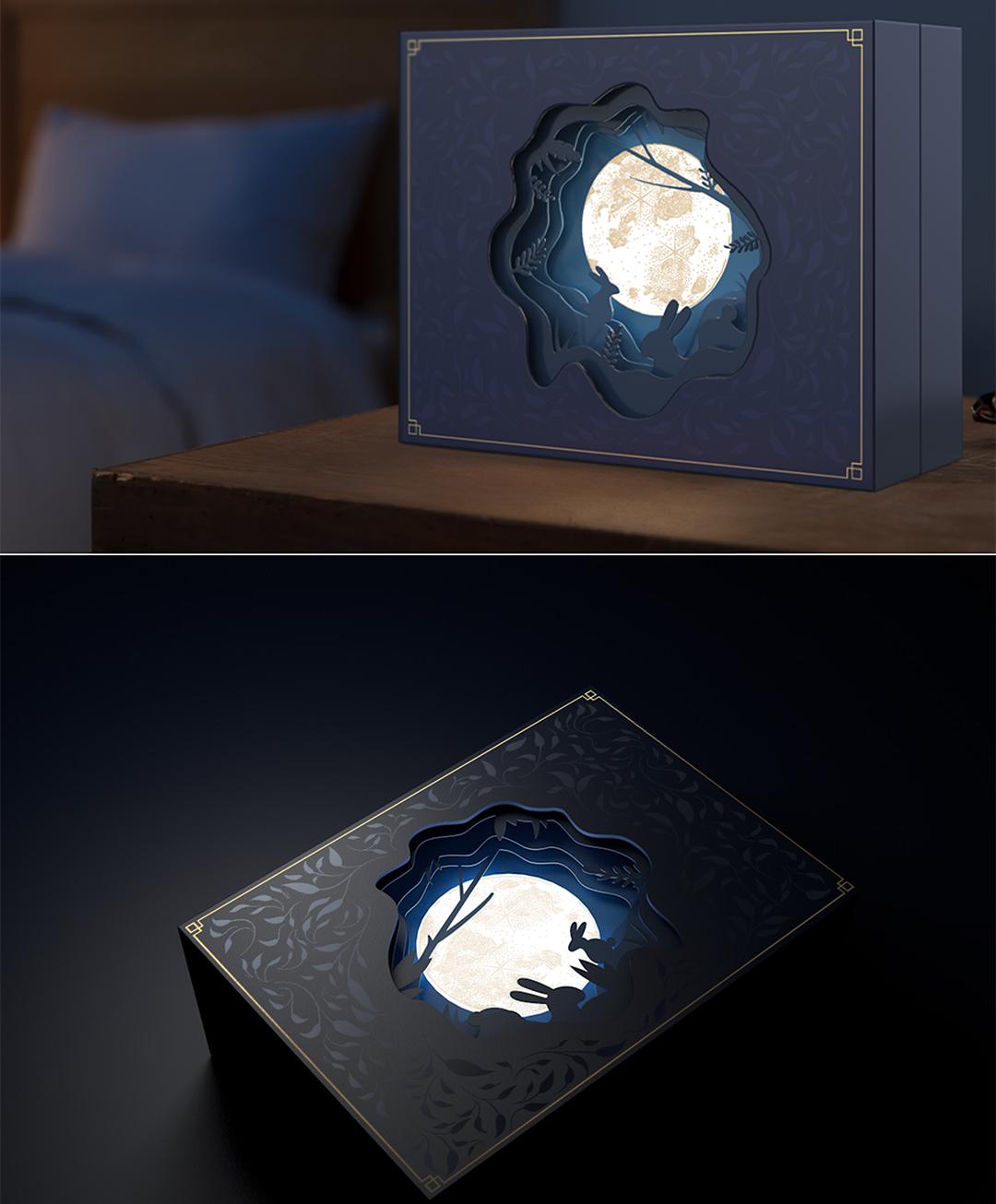 红帕原创设计中秋礼盒杯子套装《月来越好》