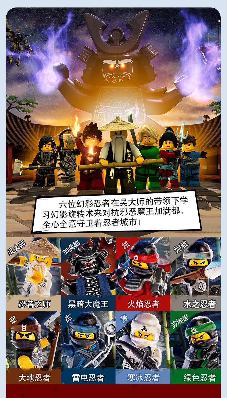 乐高(LEGO)幻影忍者 Ninjago系列 9岁+ 71738 赞的泰坦机甲