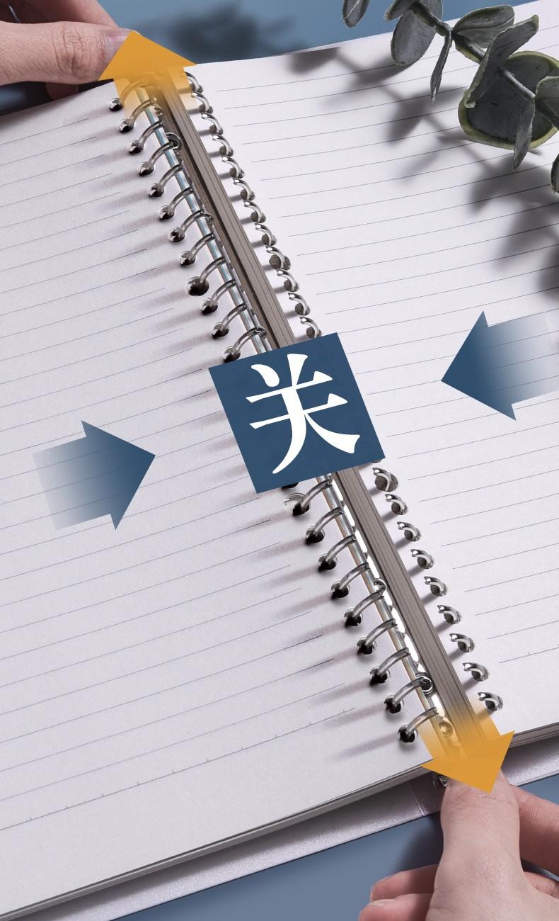 活页本 笔记本子活页笔记本 b5笔记本文具a4可拆卸康奈尔本子笔记本网格本方格本a5记事本 【A5小本】白色横线(送替芯+分隔页+荧光笔)