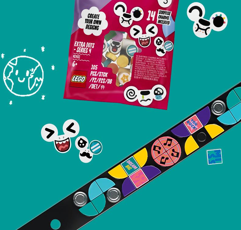 乐高(LEGO) Dots 点点世界系列 6岁+ 41933 音乐手环