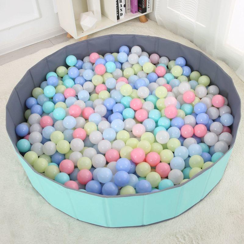 炫酷-海洋球波波球池玩具游乐场幼儿童宝宝彩色球 颜色随机 加厚5.5cm50个(+网袋)