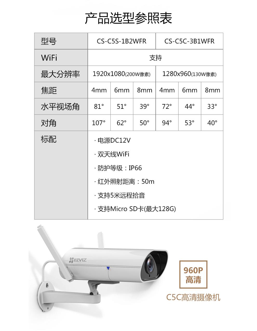 萤石C5S 4G摄像机