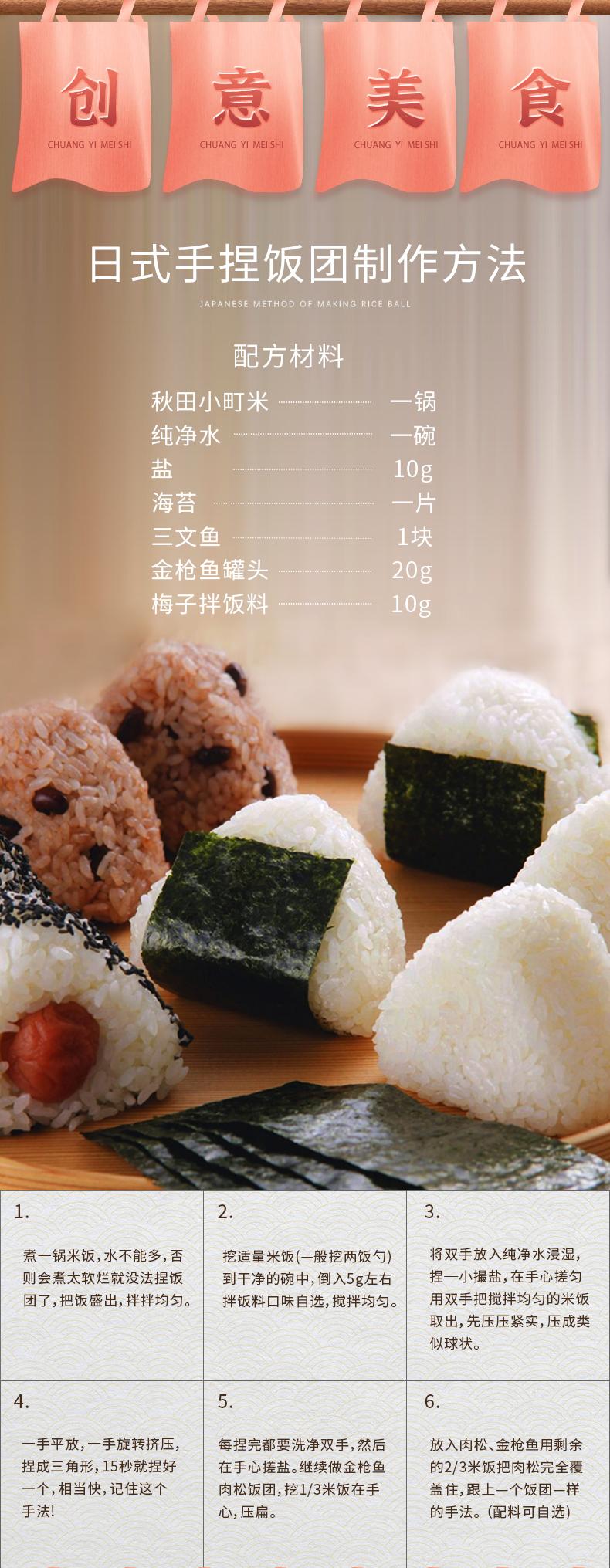 88713-深粮 秋田小町大米5斤 寿司香米东北大米 一级梗米粥米 2.5kg-详情图