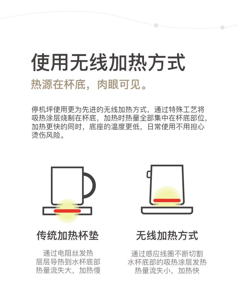 高档定制无线充电底座加热杯垫商务礼品