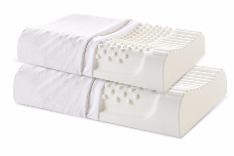 38518-【买一个送一个 送同款】睡眠博士(AiSleep)枕芯 乳胶枕进口乳胶护颈枕 58*35*9/11(按摩大颗粒)-详情图