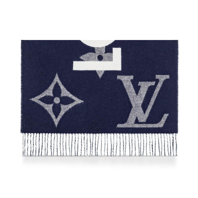 高仿原单Louis Vuitton 路易威登lv围巾男女同款长款羊毛围巾三色可选M73455 M73454(图6)