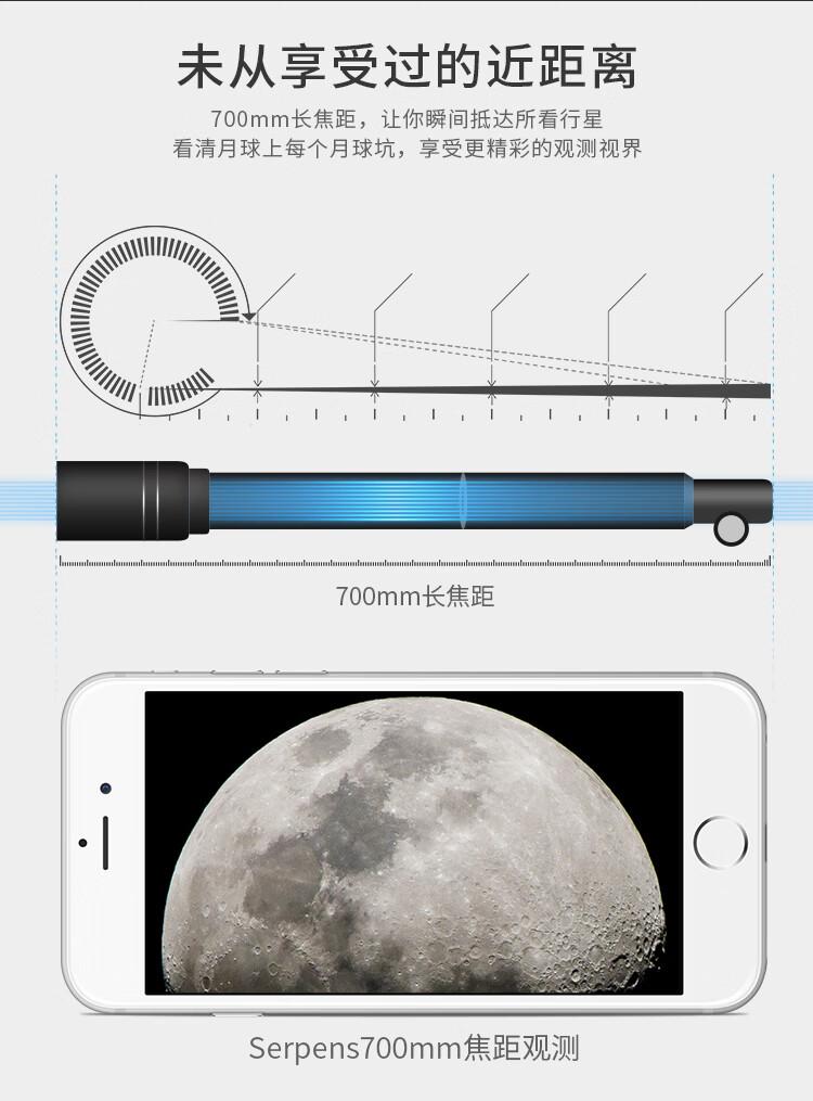 京东|serpens天文望远镜 入门级60口径(送孩子的礼物)插图(3)