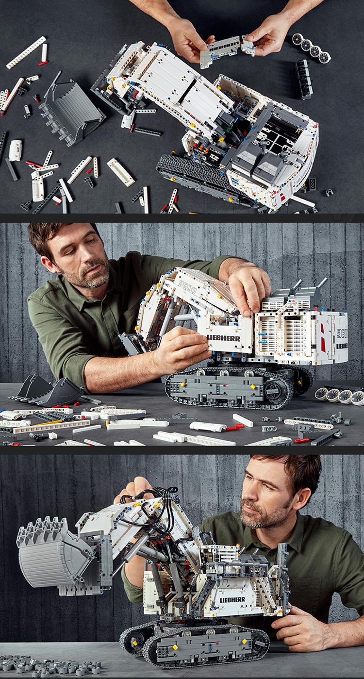 乐高(LEGO)积木 机械组Technic 生日礼物12岁+ 利勃海尔挖掘机 42100