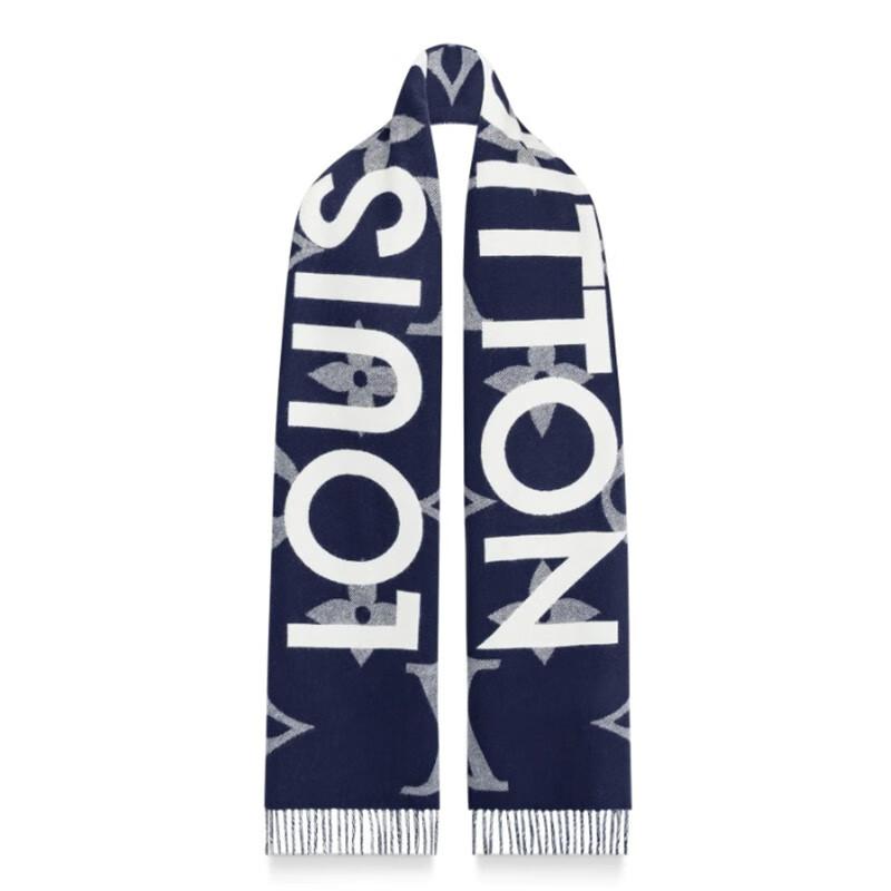 高仿原单Louis Vuitton 路易威登lv围巾男女同款长款羊毛围巾三色可选M73455 M73454(图8)