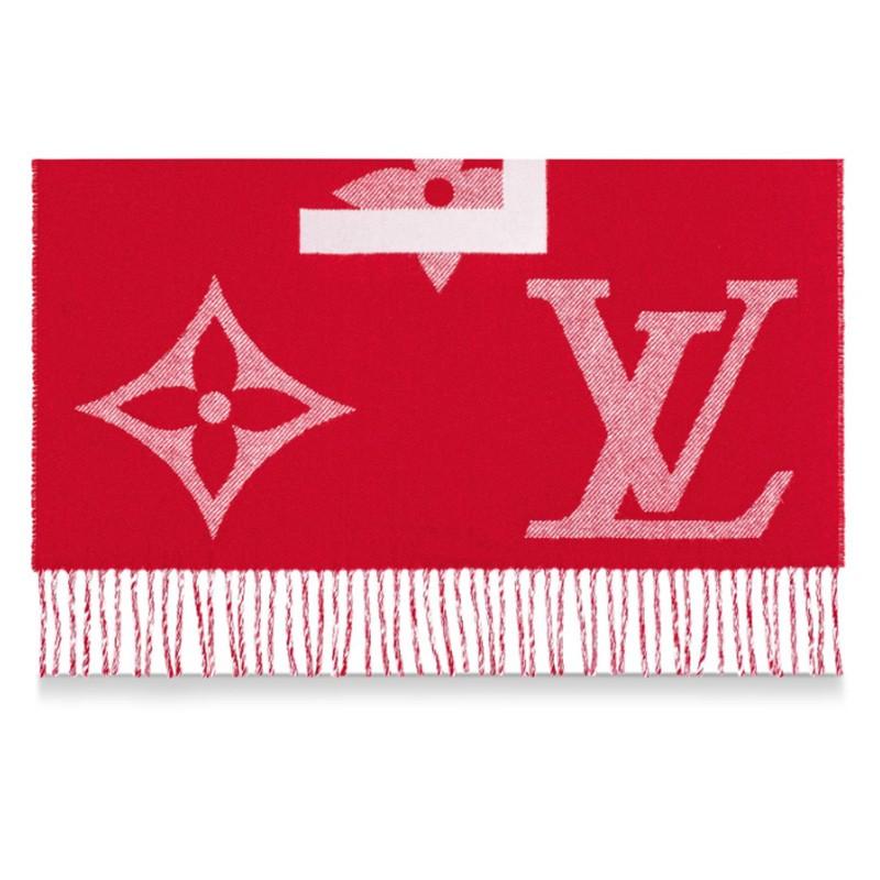 高仿原单Louis Vuitton 路易威登lv围巾男女同款长款羊毛围巾三色可选M73455 M73454(图10)