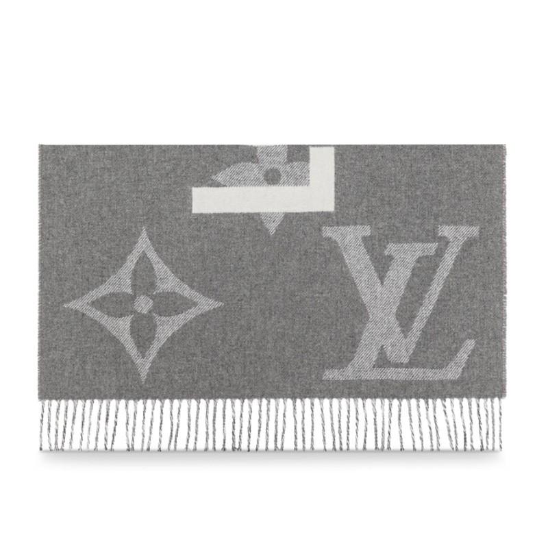 高仿原单Louis Vuitton 路易威登lv围巾男女同款长款羊毛围巾三色可选M73455 M73454(图2)