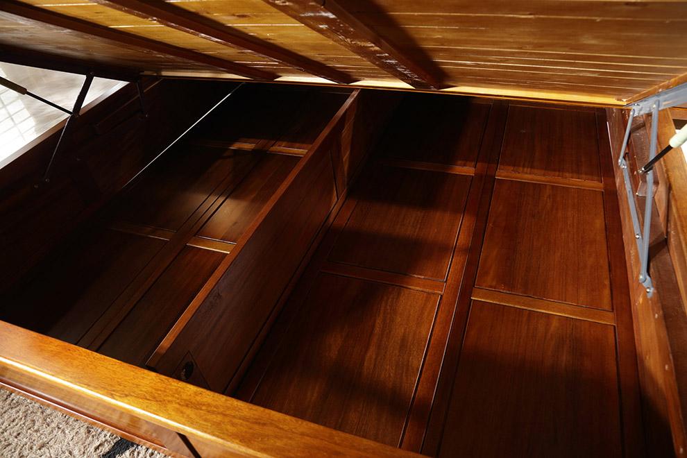 8米雙人床金絲胡桃木高箱儲物床現代中式床臥室家具 標準單體床(可