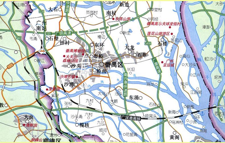 2015 揭阳指南地图 广东省揭阳市中心城区图