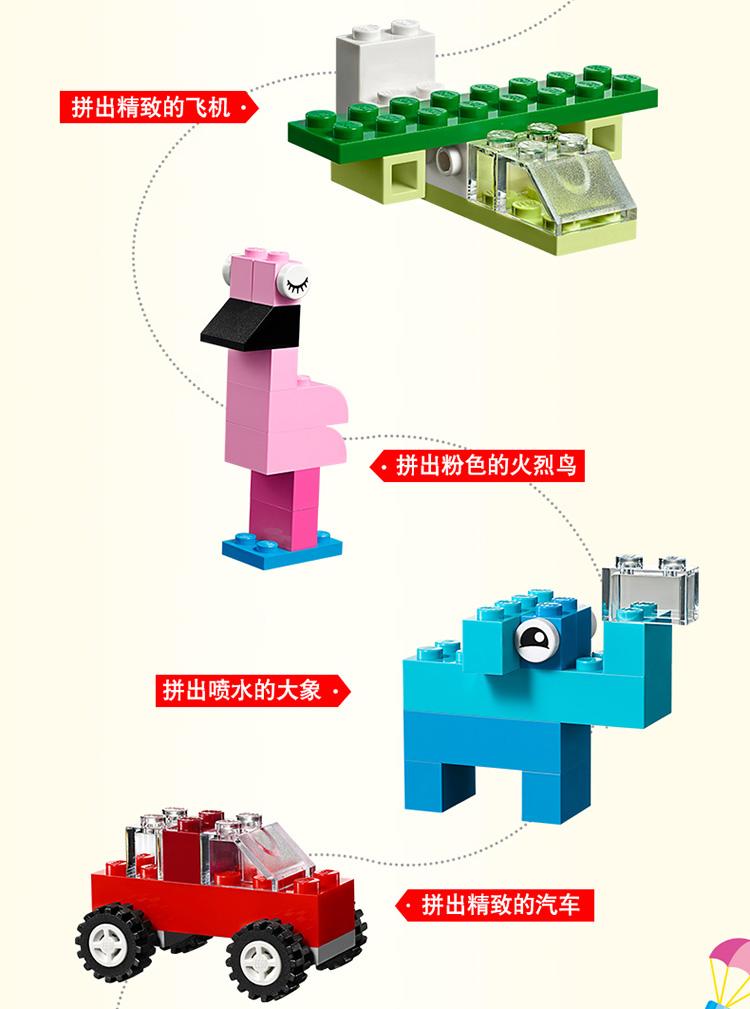 乐高(LEGO)积木 经典创意系列Classic 小颗粒  4岁+ 创意手提箱 10713