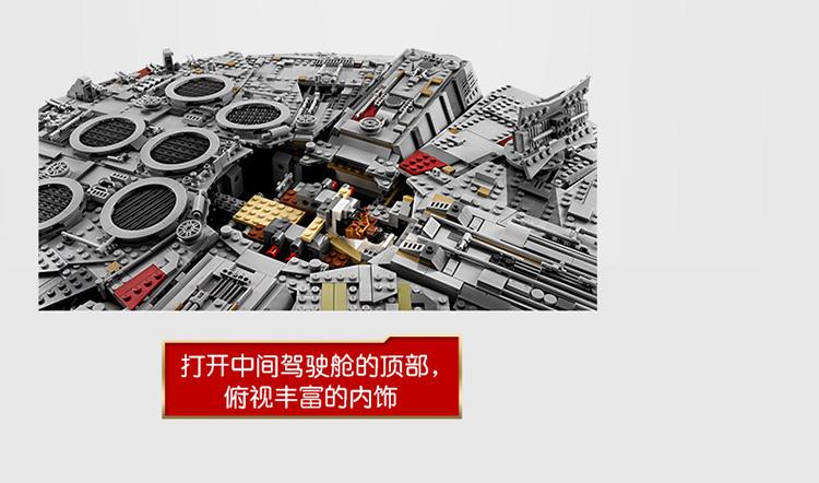 乐高(LEGO)积木 星球大战StarWars 粉丝限量收藏 生日礼物16岁+【D2C旗舰店限定款】 豪华千年隼75192