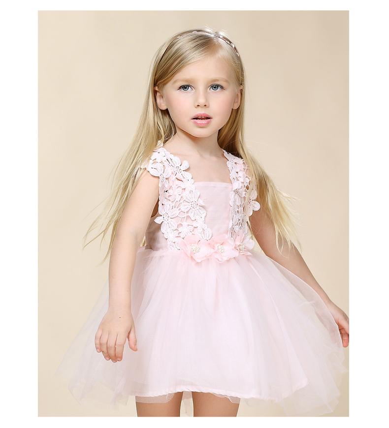 女童连衣裙夏装2015新款童装儿童公主裙蓬蓬纱裙礼服