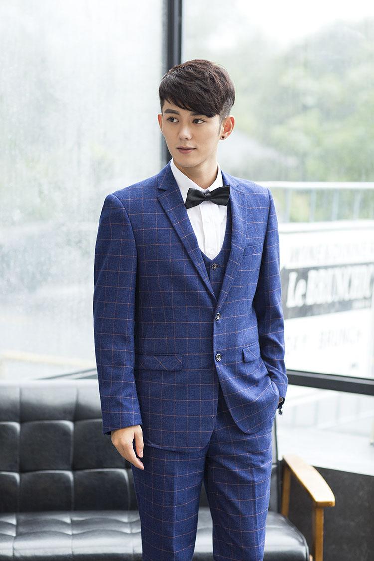 紳威克 時尚品牌男裝 男士休閑西服套裝三件套修身英倫韓版潮新郎結婚圖片