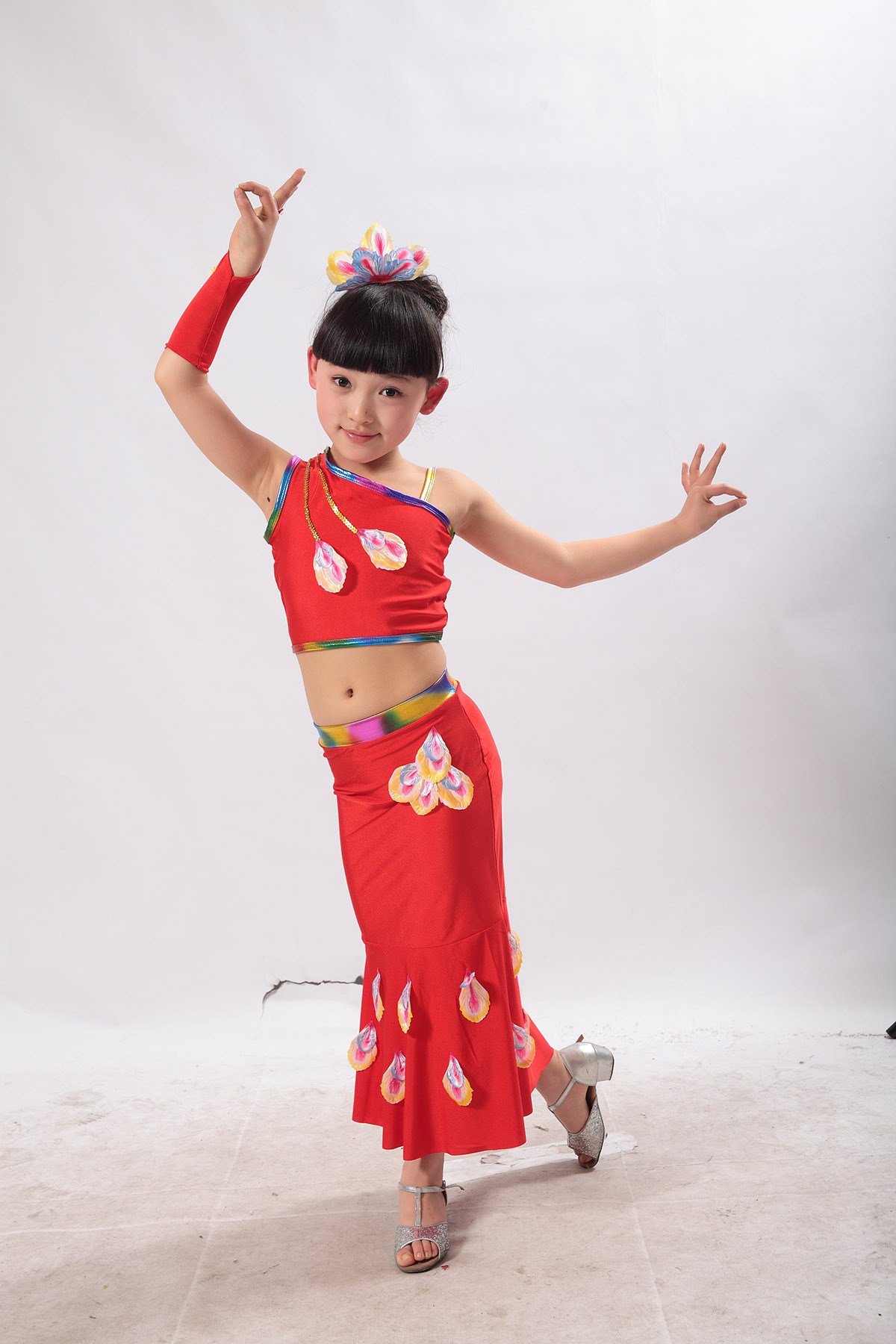 儿童舞蹈民族舞_比赛服女童 女童拉丁舞裙儿童比赛服拉丁服