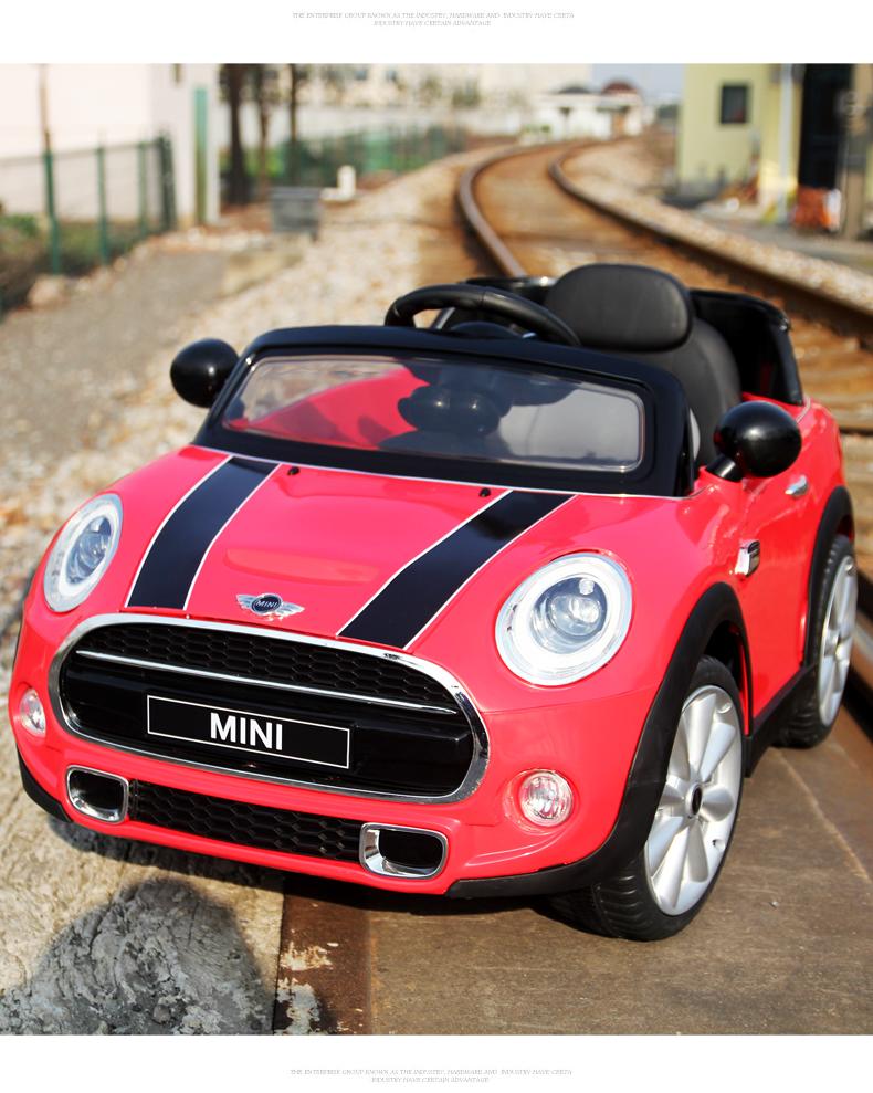 kids original bmw licensed mini cooper battery powered car parental remote control ride on. Black Bedroom Furniture Sets. Home Design Ideas