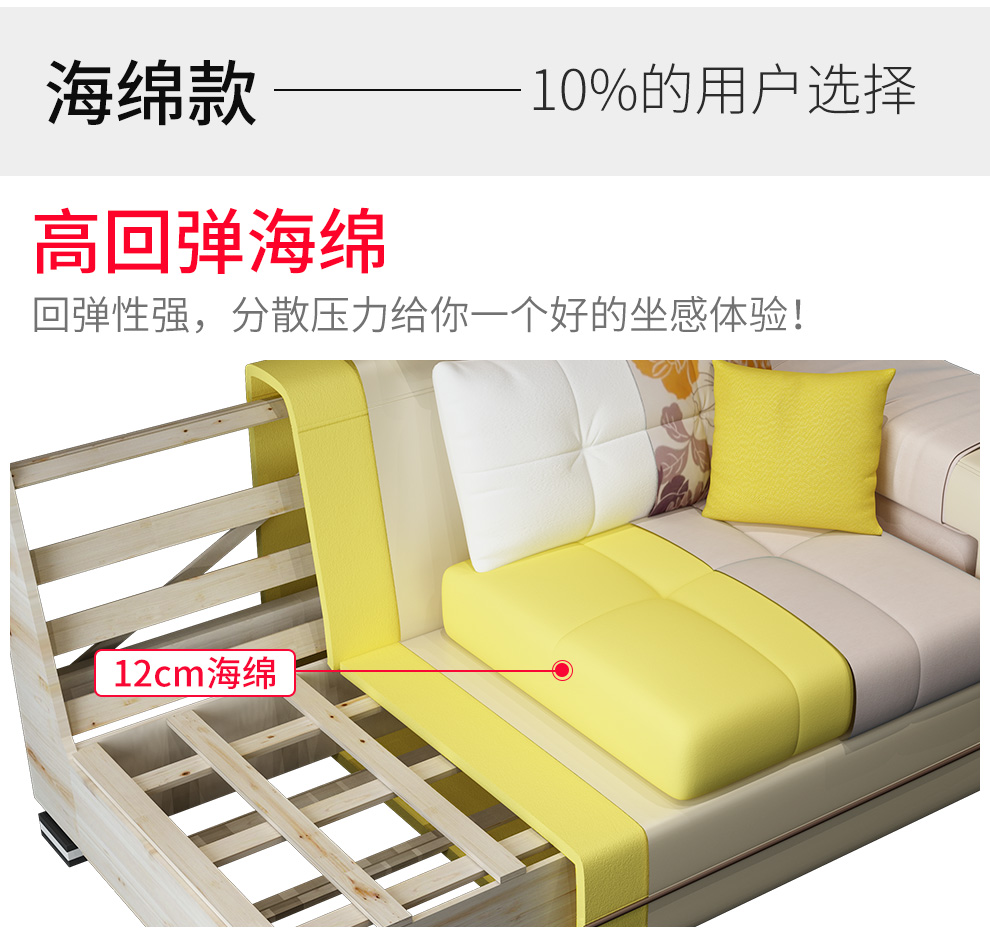 中派沙发客厅组合可拆洗布艺沙发组合颜色备注双人位+贵妃