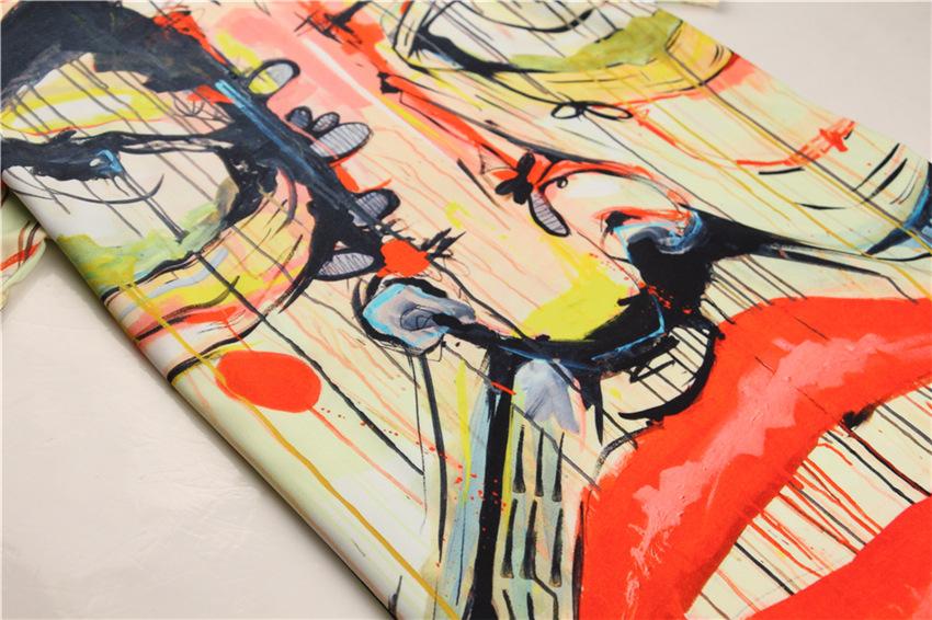 3d創意惡搞梵高油畫藝術彩繪頭像圖案潮男女情侶裝修身短袖t恤 夏