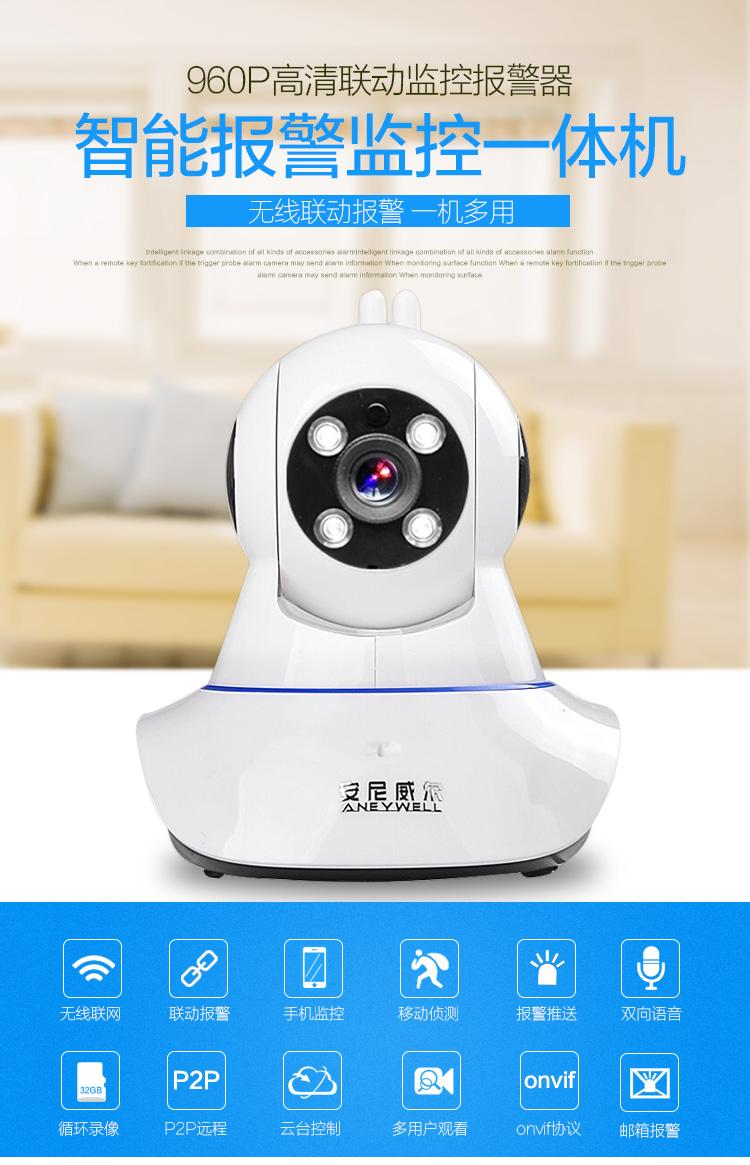 well)监控摄像头一体机wifi无线网络