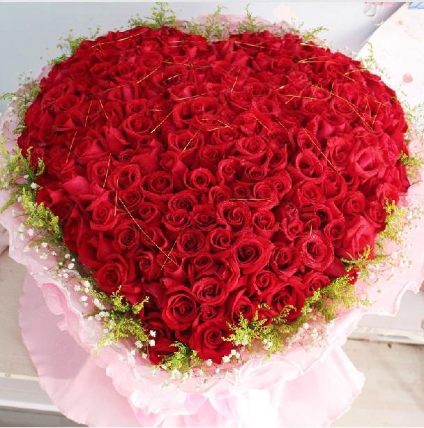 qq表情玫瑰心形_99朵心形玫瑰花图片 _排行榜大全