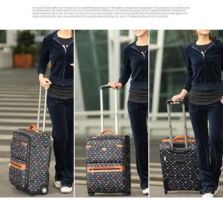 拉杆箱22寸旅行箱包20寸行李箱女士时尚拖箱