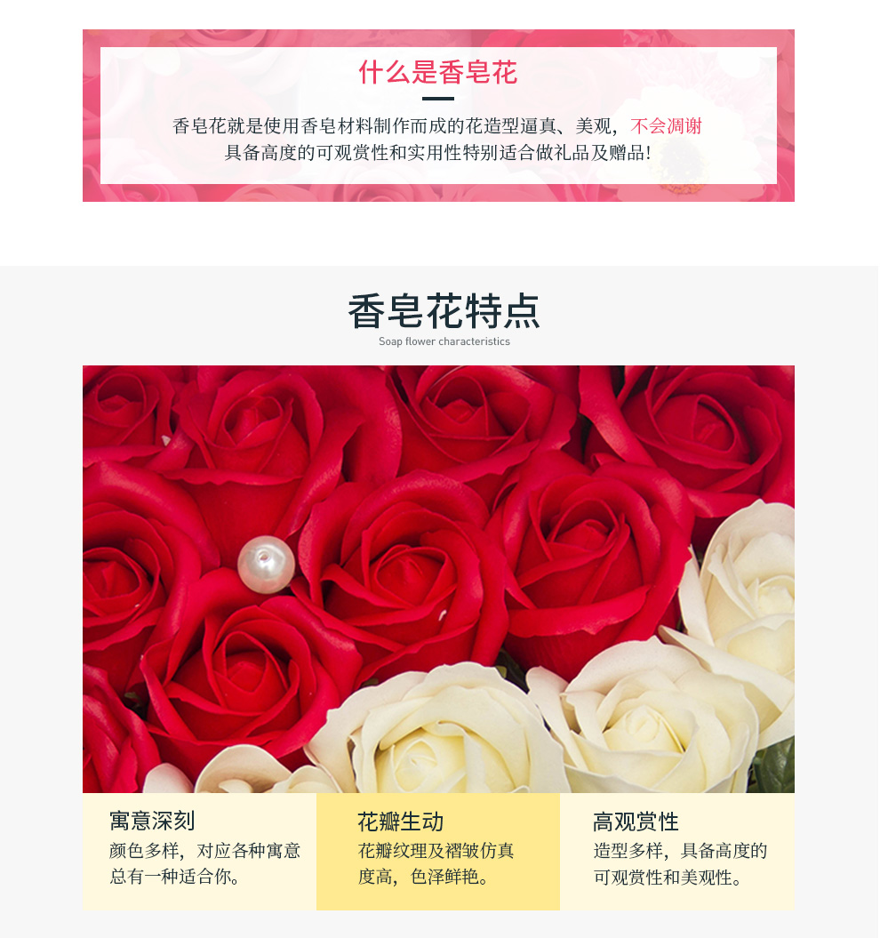 Venus Gift Flowers Flower Delivery 99 Roses Soap Flower Gift Box